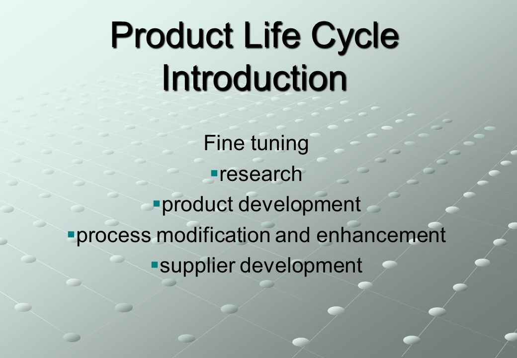 Product Life Cycle Introduction