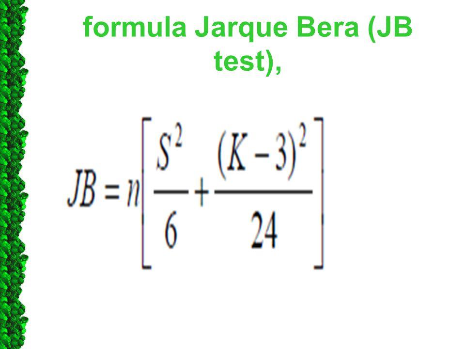 formula Jarque Bera (JB test),