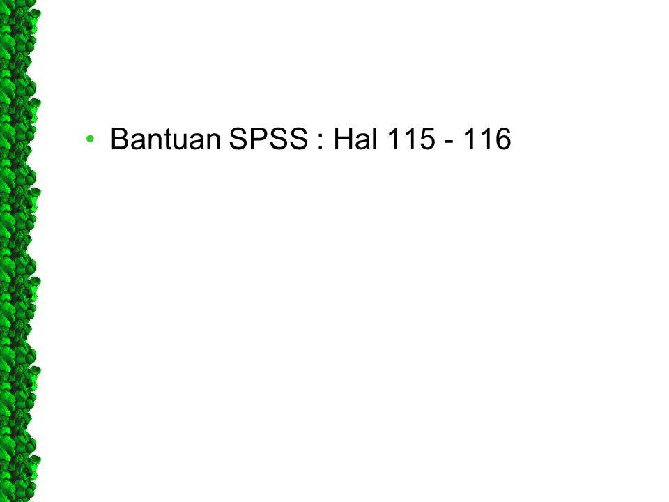 Bantuan SPSS : Hal 115 - 116