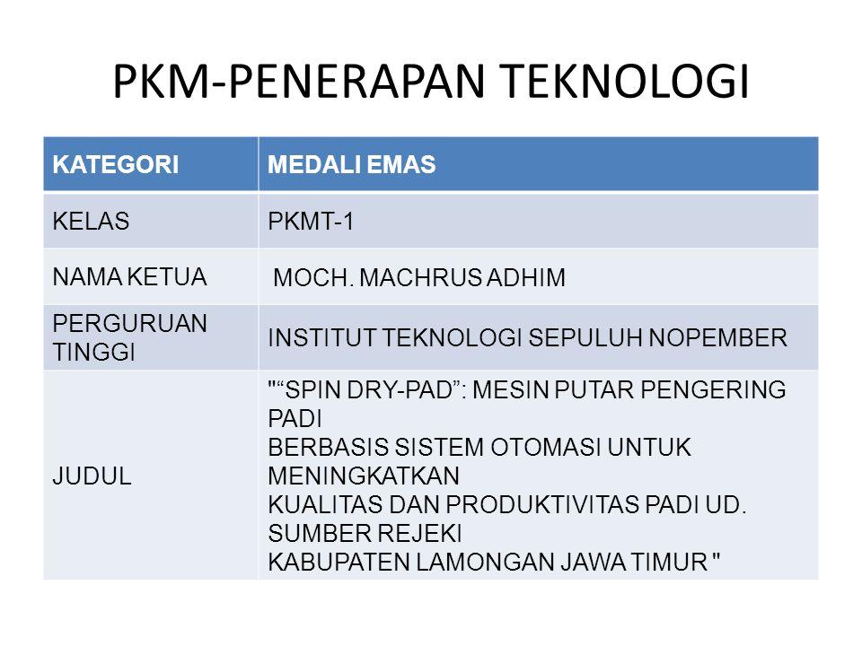 PKM-PENERAPAN TEKNOLOGI