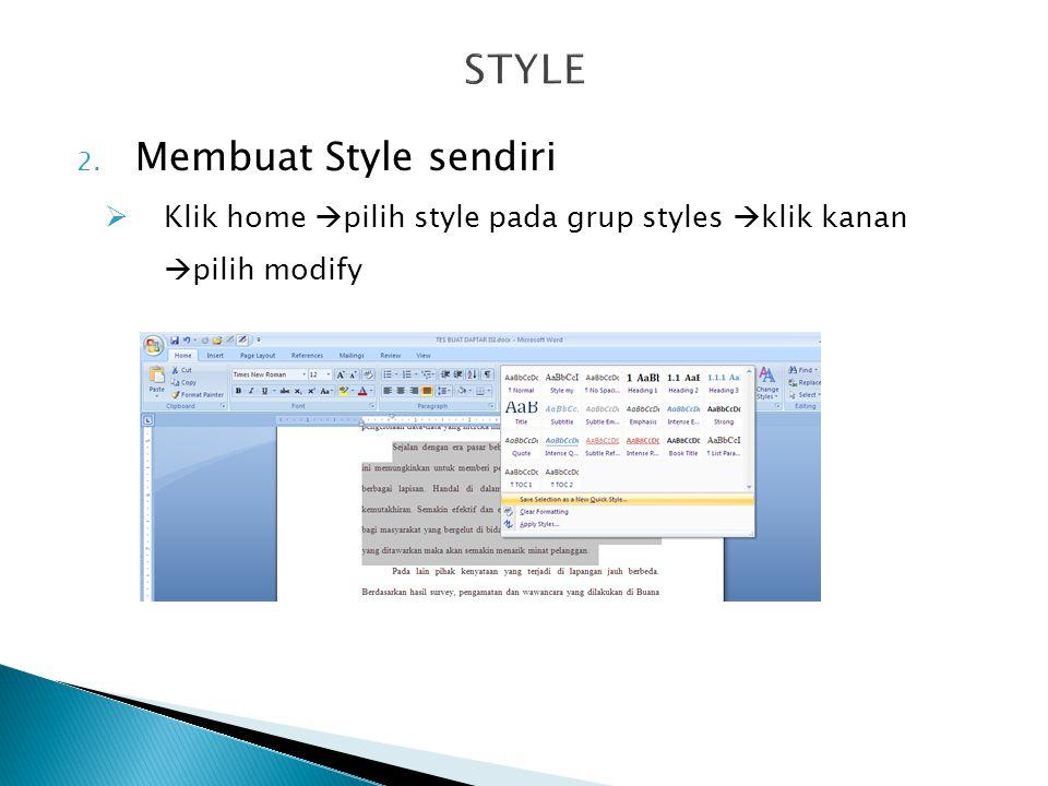 STYLE Membuat Style sendiri