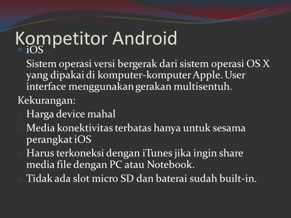 Kompetitor Android iOS