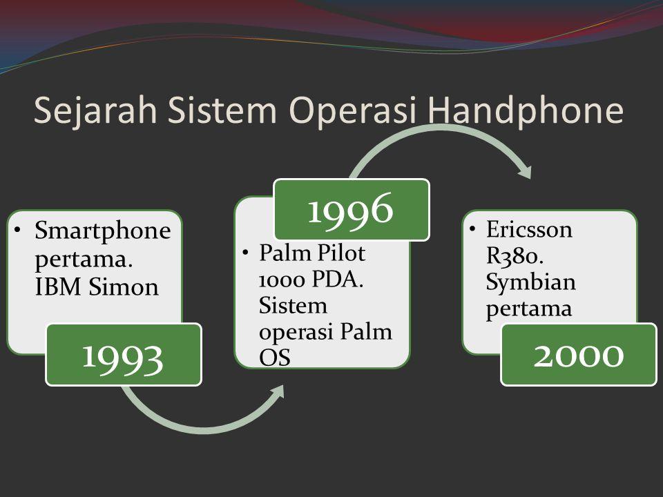 Sejarah Sistem Operasi Handphone