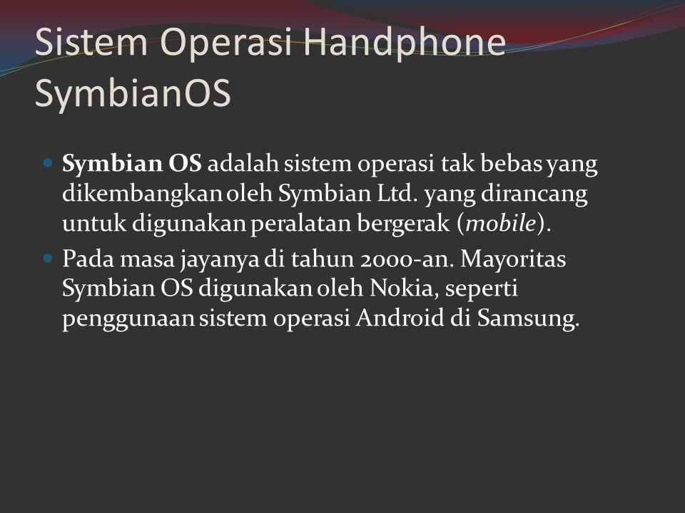 Sistem Operasi Handphone SymbianOS