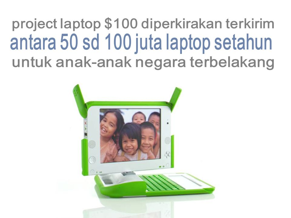 project laptop $100 diperkirakan terkirim