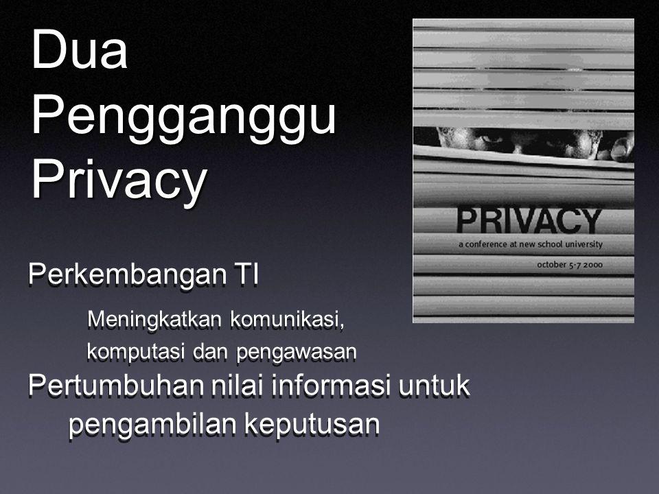 Dua Pengganggu Privacy