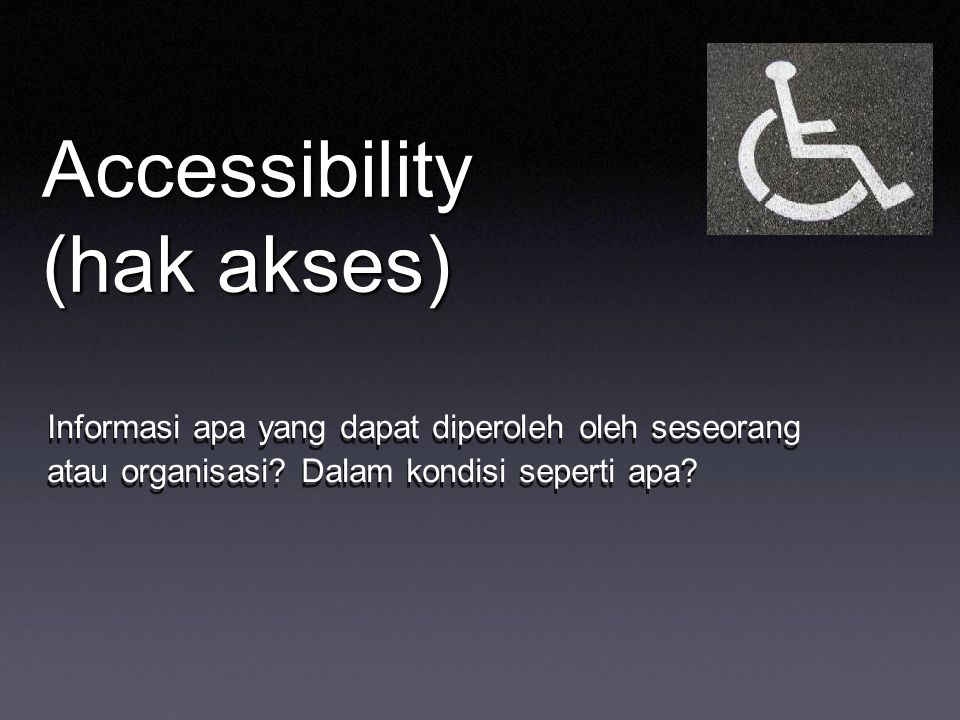 Accessibility (hak akses)