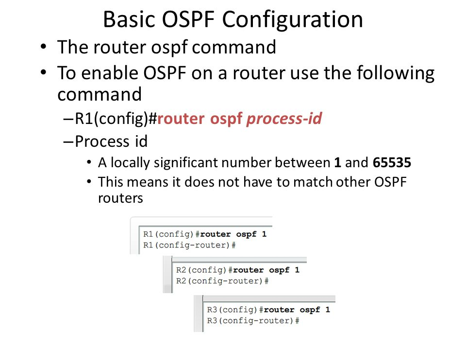 Basic OSPF Configuration