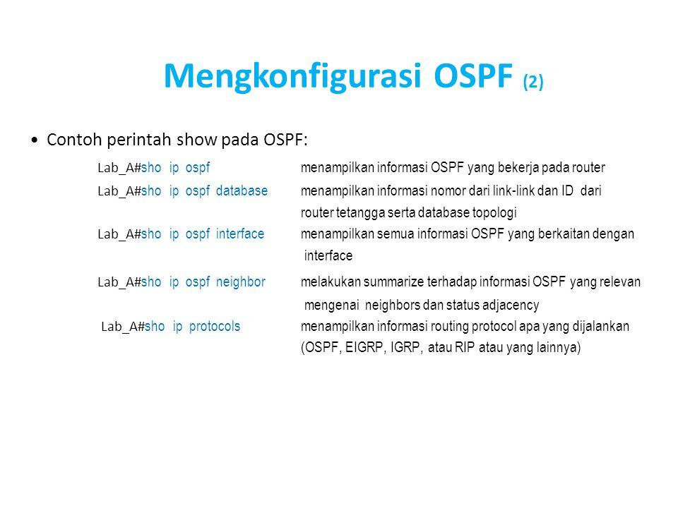 Mengkonfigurasi OSPF (2)