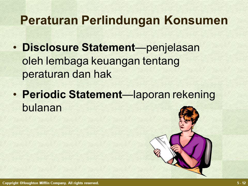 Peraturan Perlindungan Konsumen