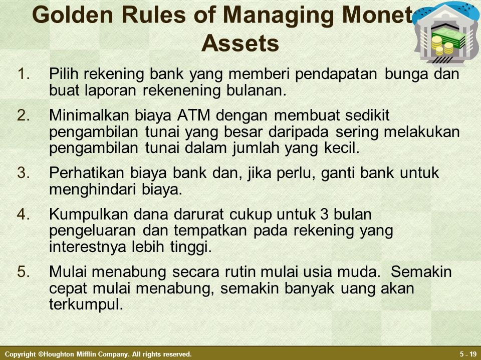 Golden Rules of Managing Monetary Assets