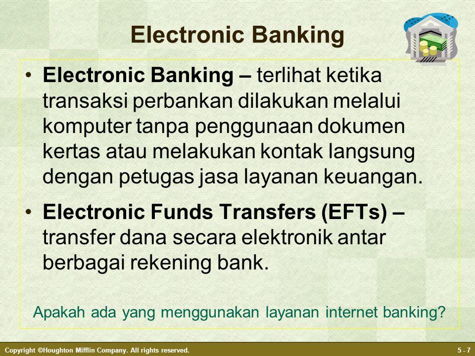 Apakah ada yang menggunakan layanan internet banking