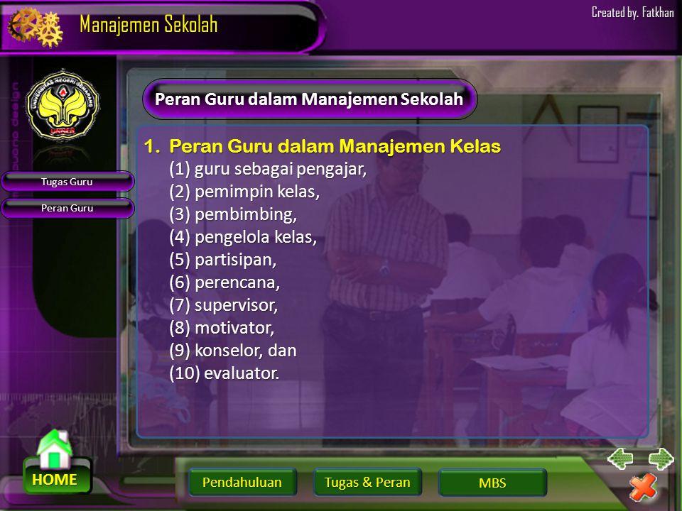 Peran Guru dalam Manajemen Sekolah