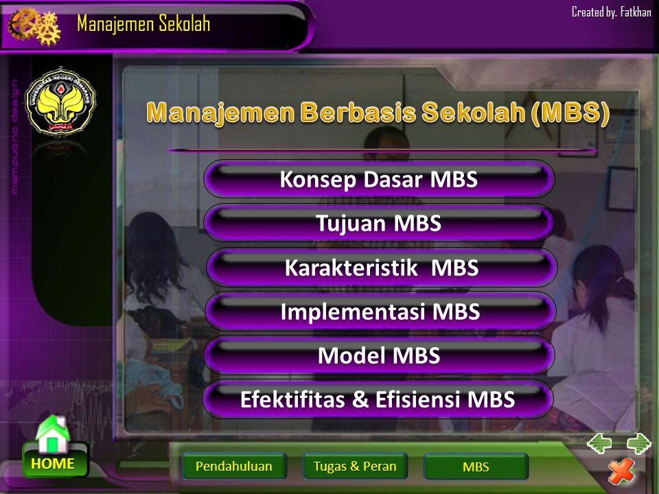 Manajemen Berbasis Sekolah (MBS) Efektifitas & Efisiensi MBS