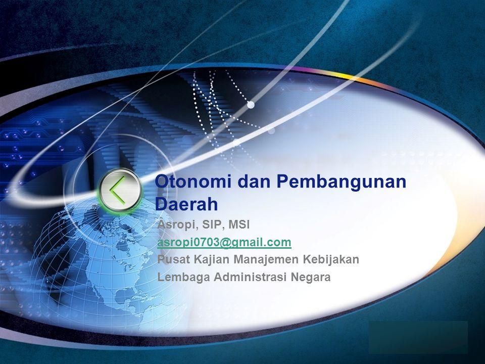 Otonomi dan Pembangunan Daerah