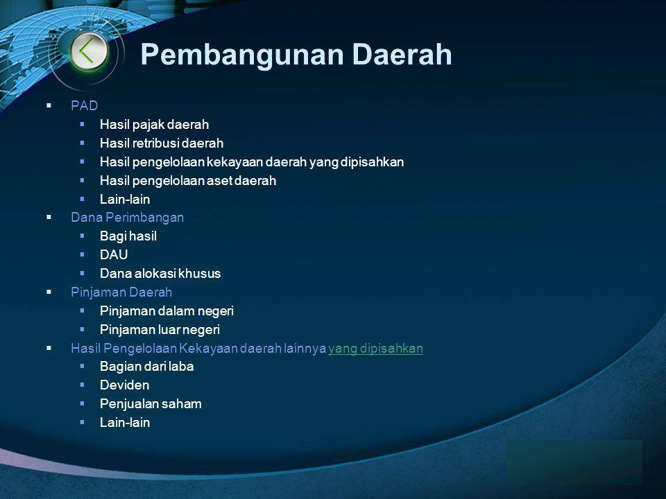 Pembangunan Daerah PAD Hasil pajak daerah Hasil retribusi daerah