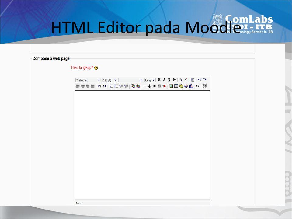 HTML Editor pada Moodle
