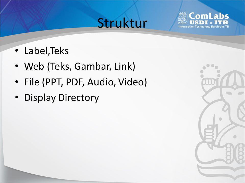 Struktur Label,Teks Web (Teks, Gambar, Link)