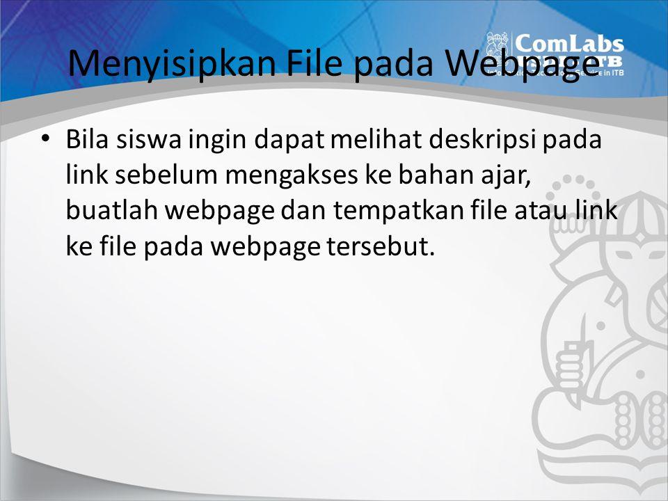 Menyisipkan File pada Webpage
