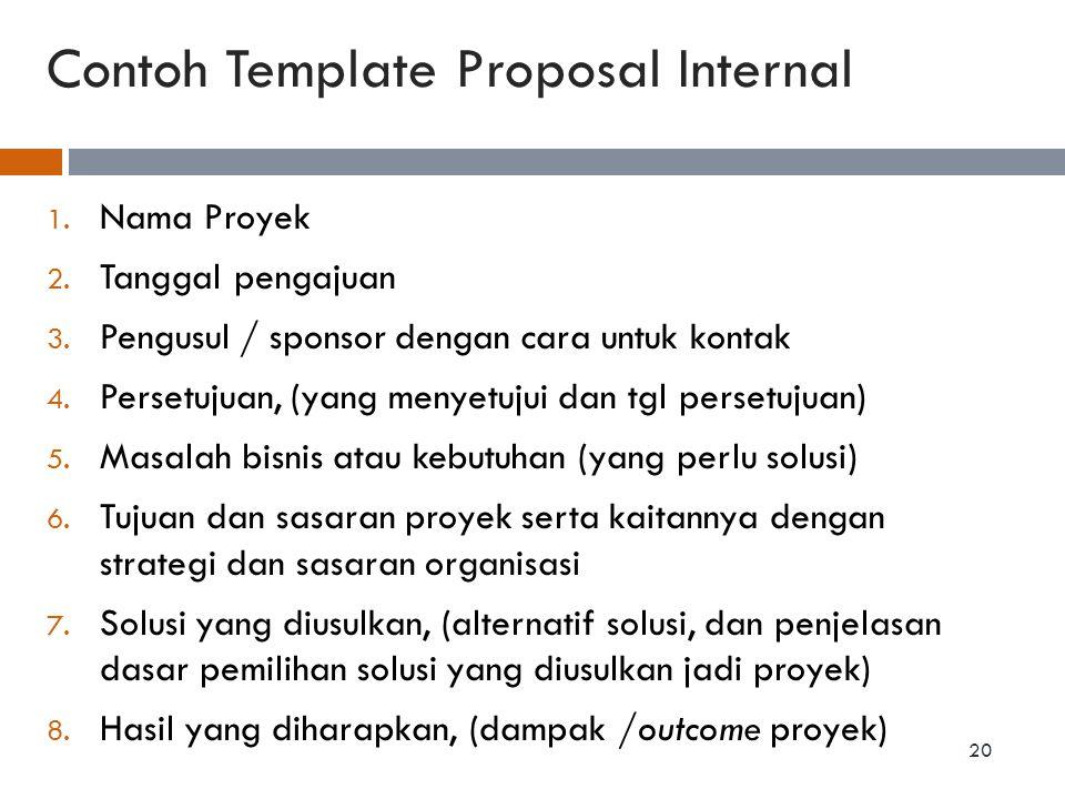 Contoh Template Proposal Internal