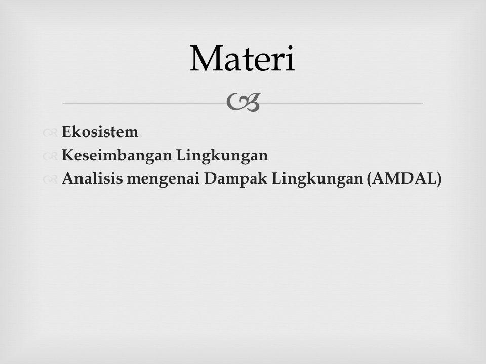 Materi Ekosistem Keseimbangan Lingkungan