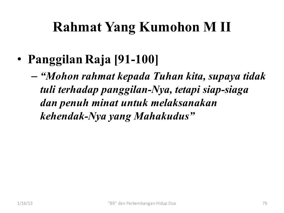 Rahmat Yang Kumohon M II
