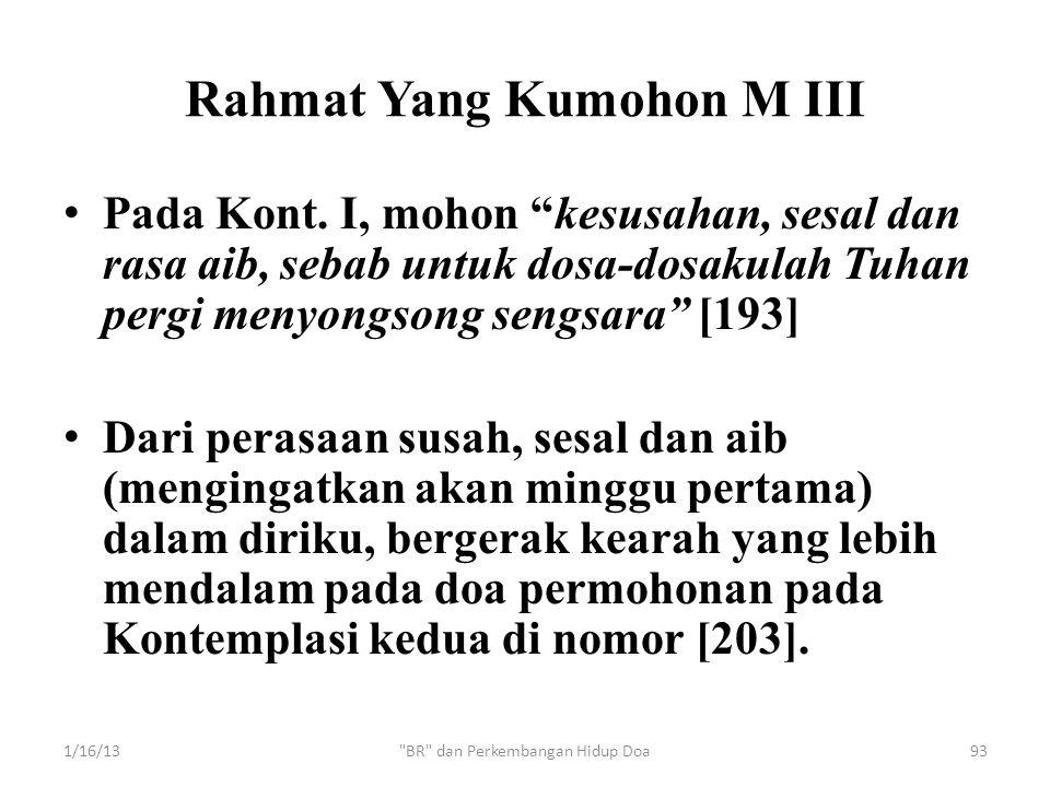 Rahmat Yang Kumohon M III