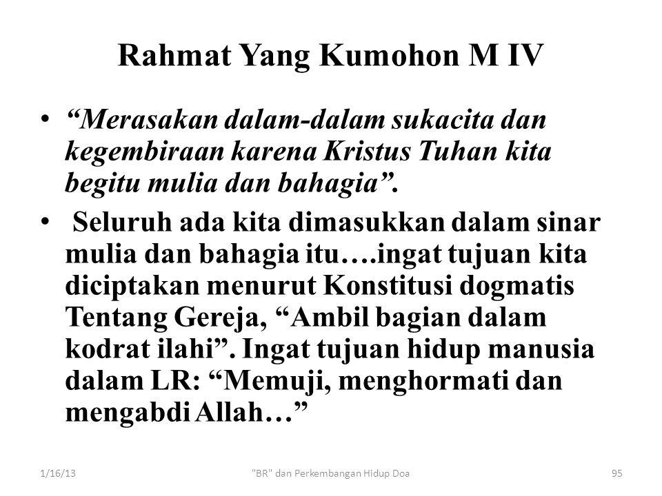 Rahmat Yang Kumohon M IV