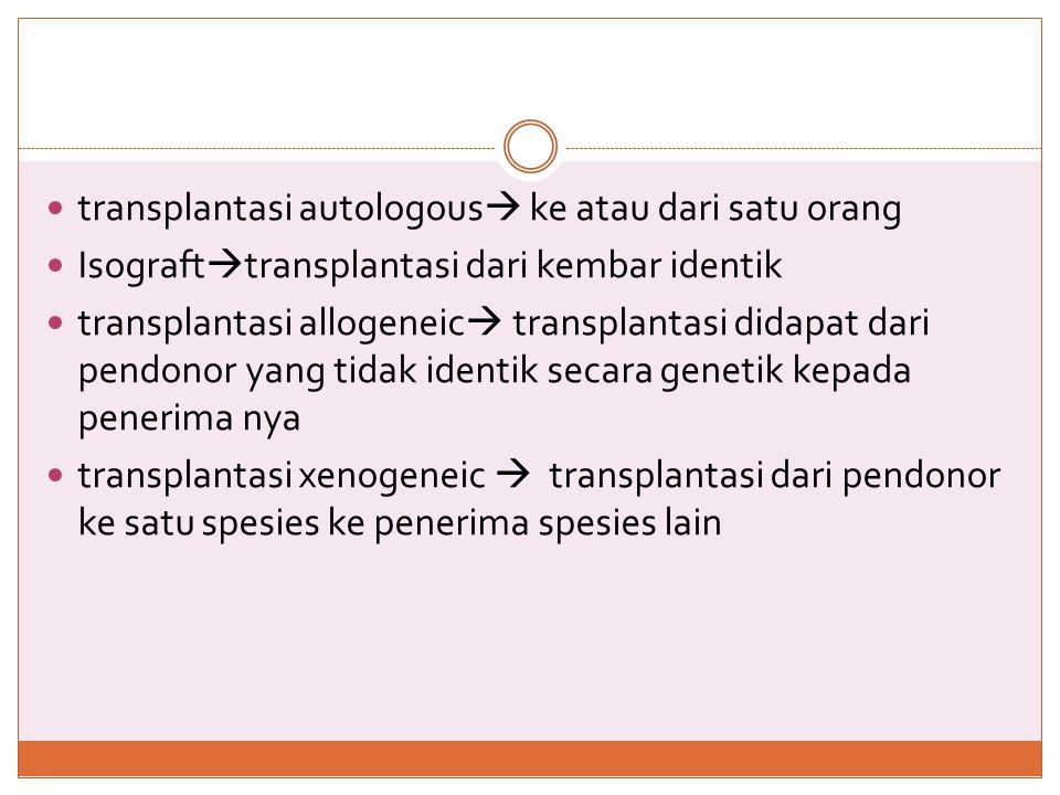 transplantasi autologous ke atau dari satu orang