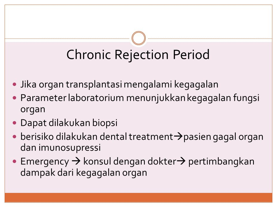 Chronic Rejection Period
