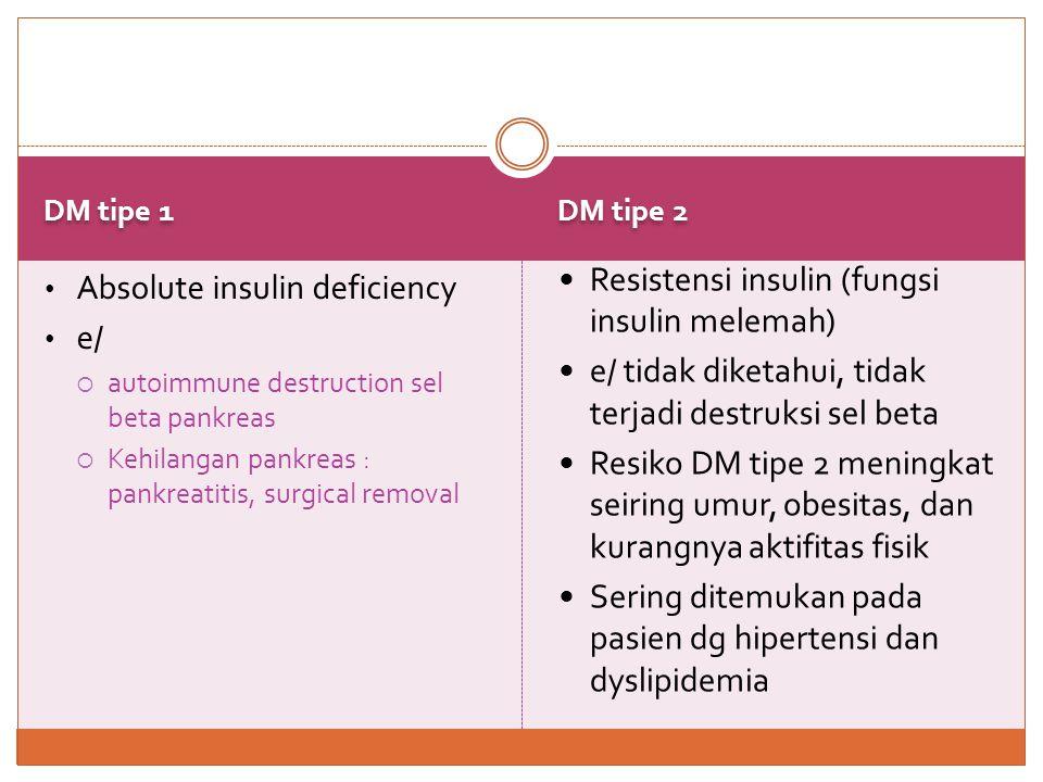 Resistensi insulin (fungsi insulin melemah)