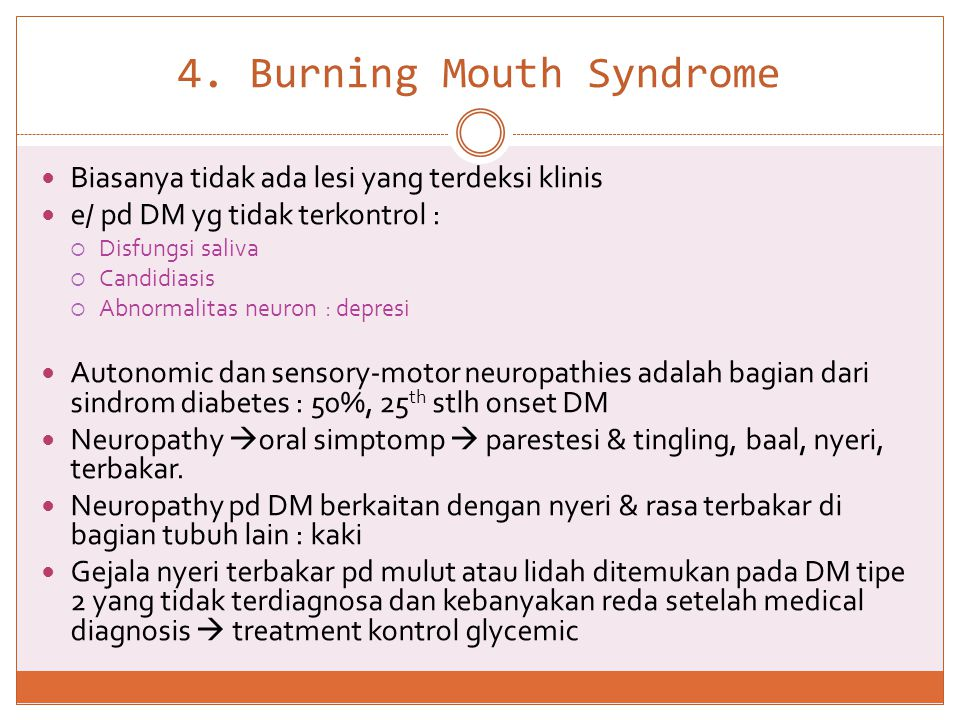 4. Burning Mouth Syndrome