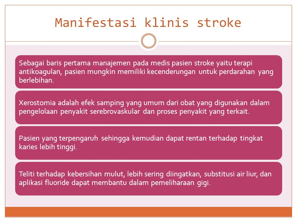 Manifestasi klinis stroke
