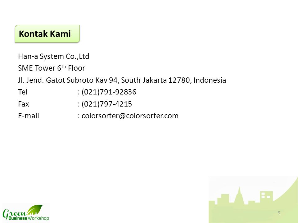Kontak Kami Han-a System Co.,Ltd SME Tower 6th Floor