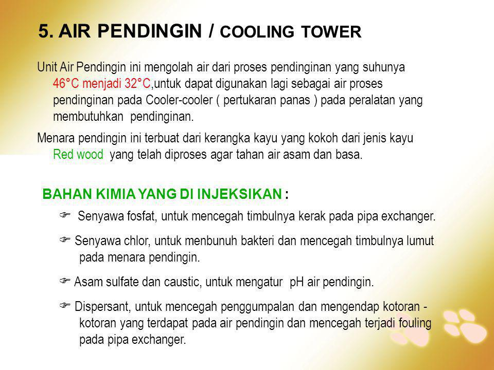5. AIR PENDINGIN / COOLING TOWER