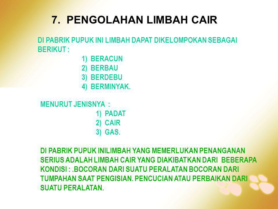 7. PENGOLAHAN LIMBAH CAIR