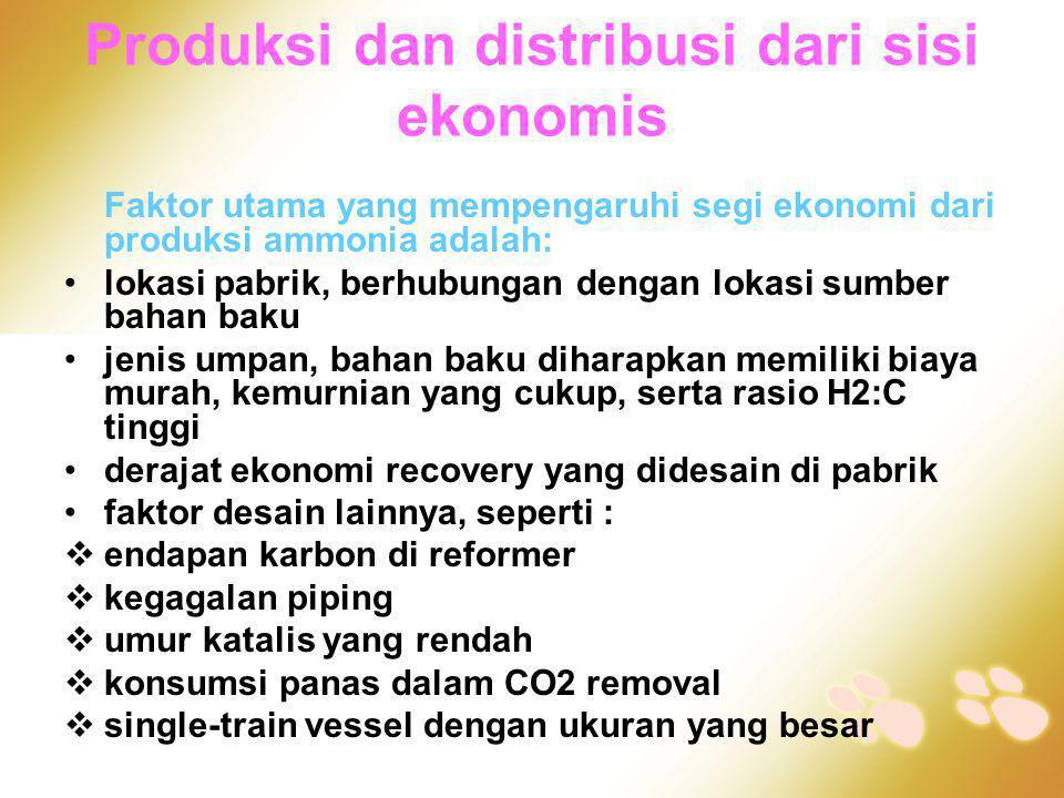 Produksi dan distribusi dari sisi ekonomis