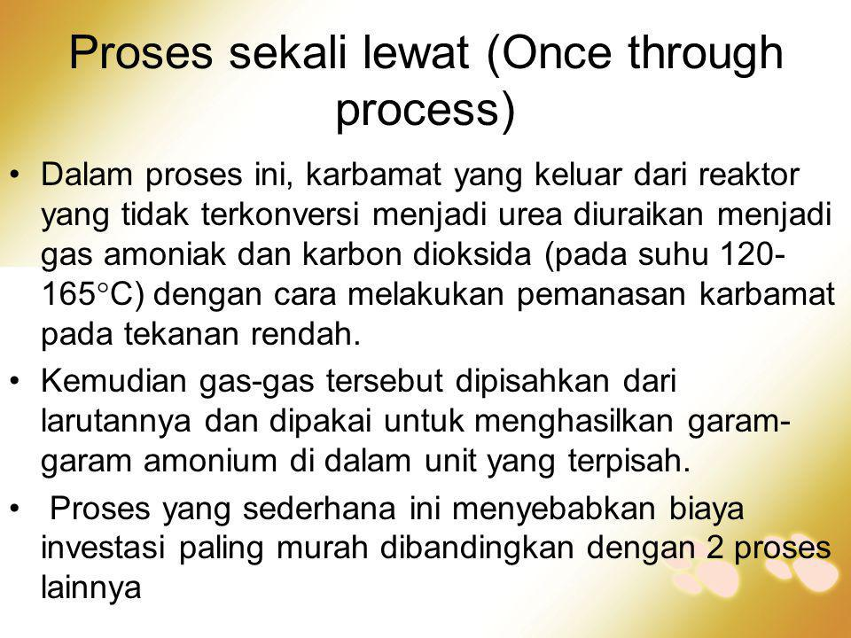 Proses sekali lewat (Once through process)
