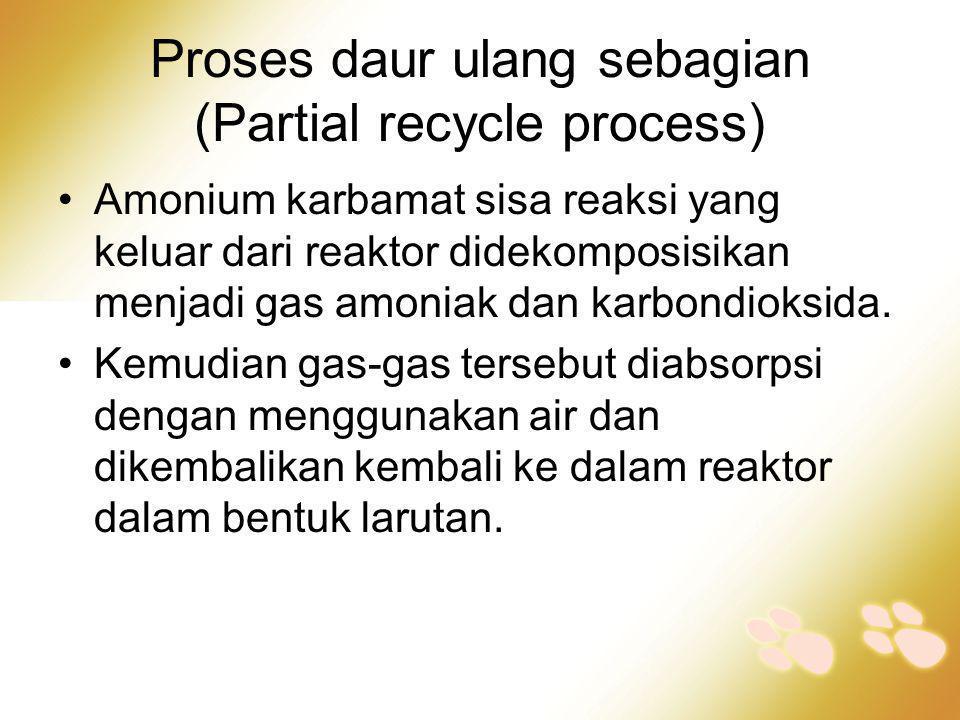 Proses daur ulang sebagian (Partial recycle process)