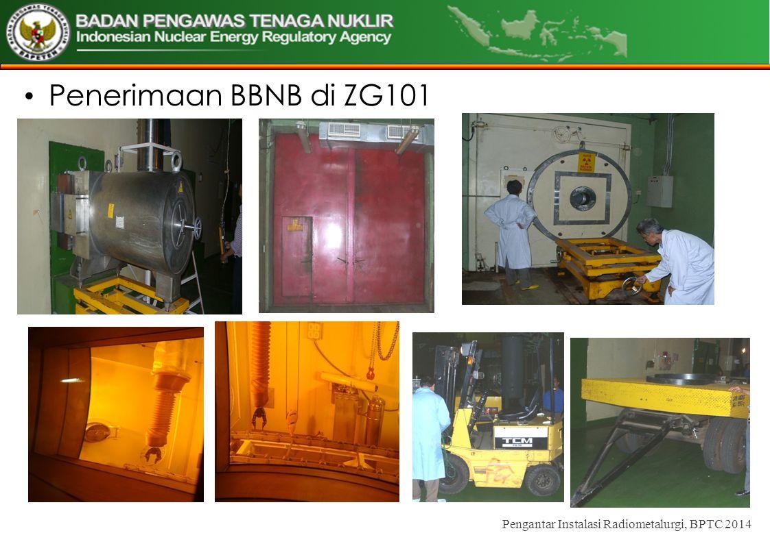 Penerimaan BBNB di ZG101