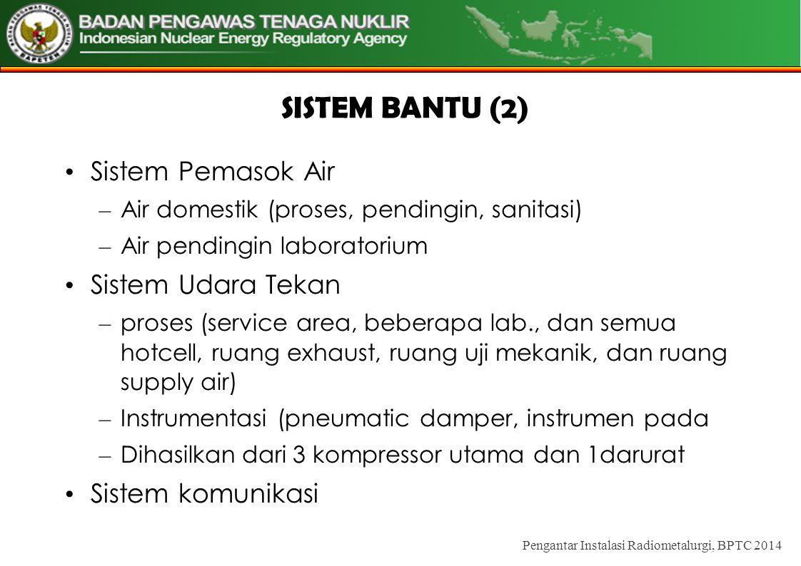 SISTEM BANTU (2) Sistem Pemasok Air Sistem Udara Tekan
