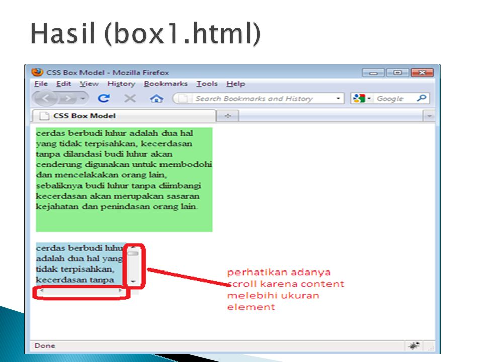 Hasil (box1.html)