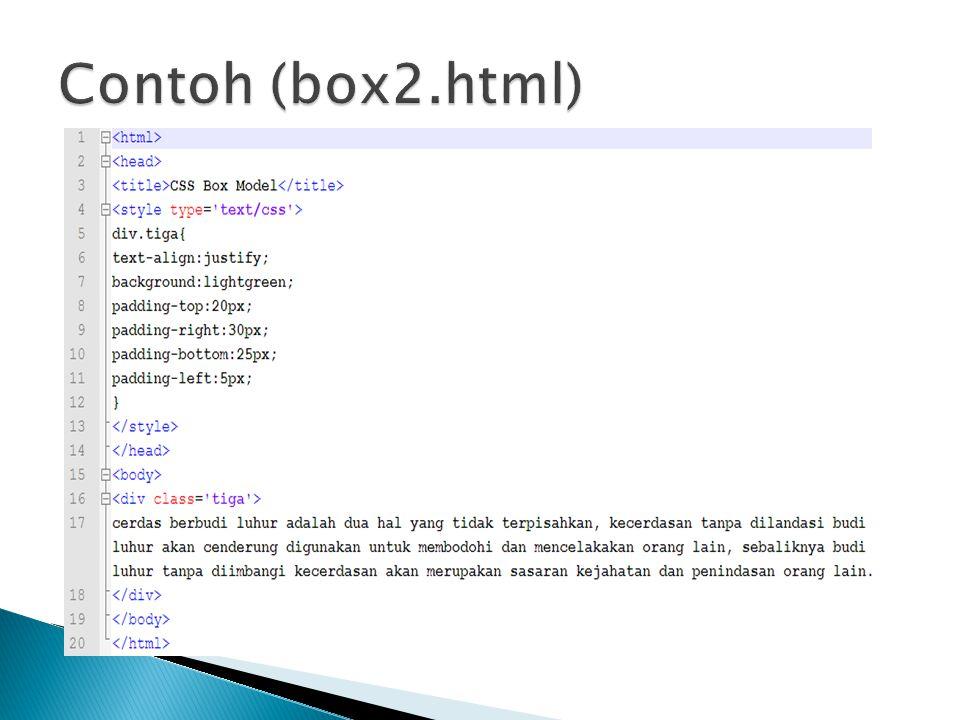 Contoh (box2.html)