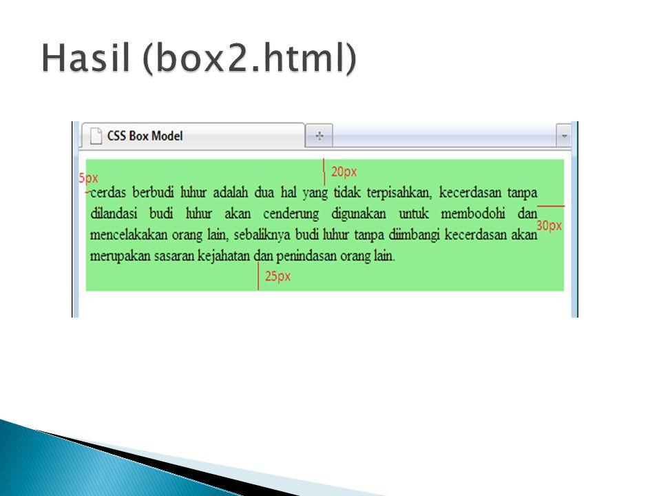 Hasil (box2.html)