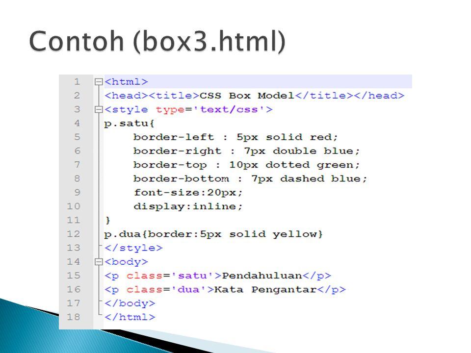 Contoh (box3.html)