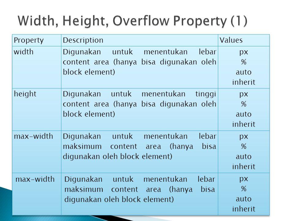 Width, Height, Overflow Property (1)