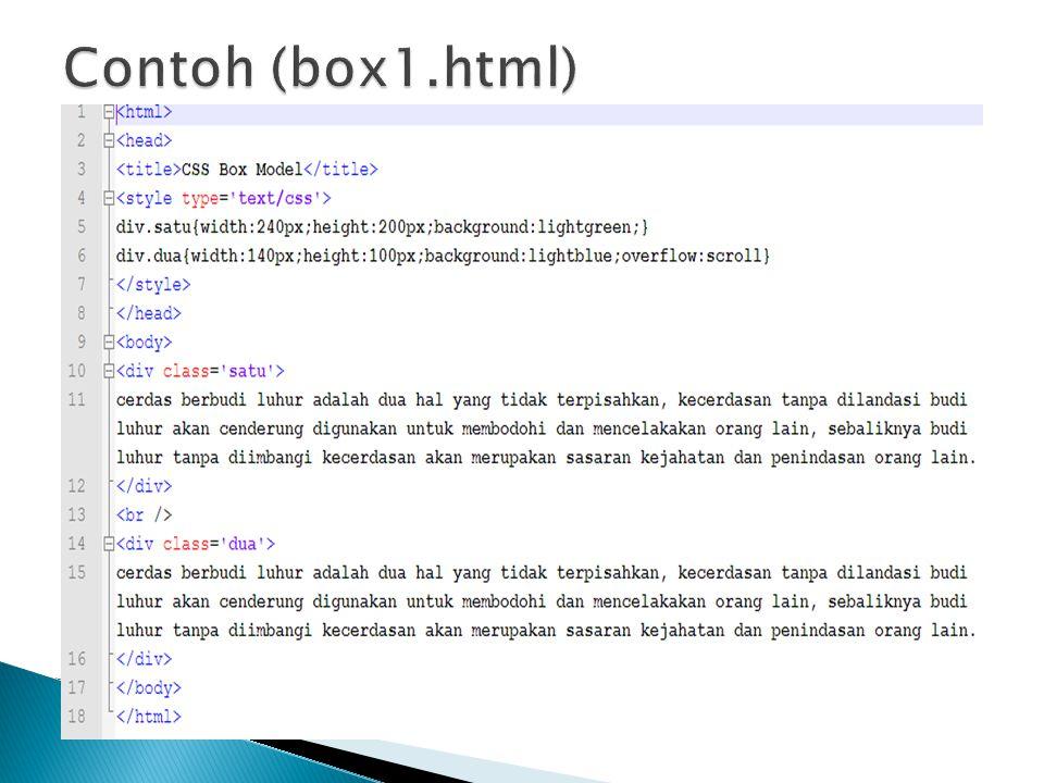 Contoh (box1.html)