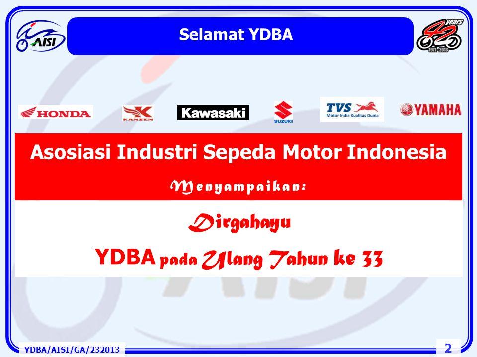 Asosiasi Industri Sepeda Motor Indonesia YDBA pada Ulang Tahun ke 33