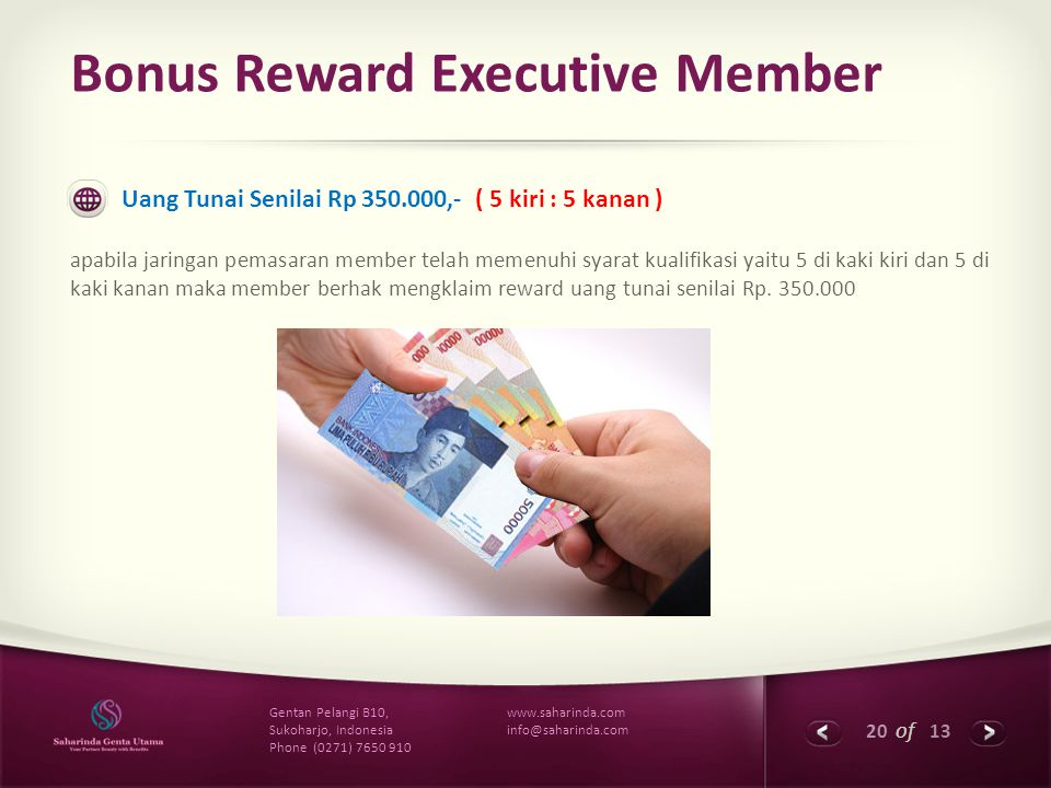 Bonus Reward Executive Member