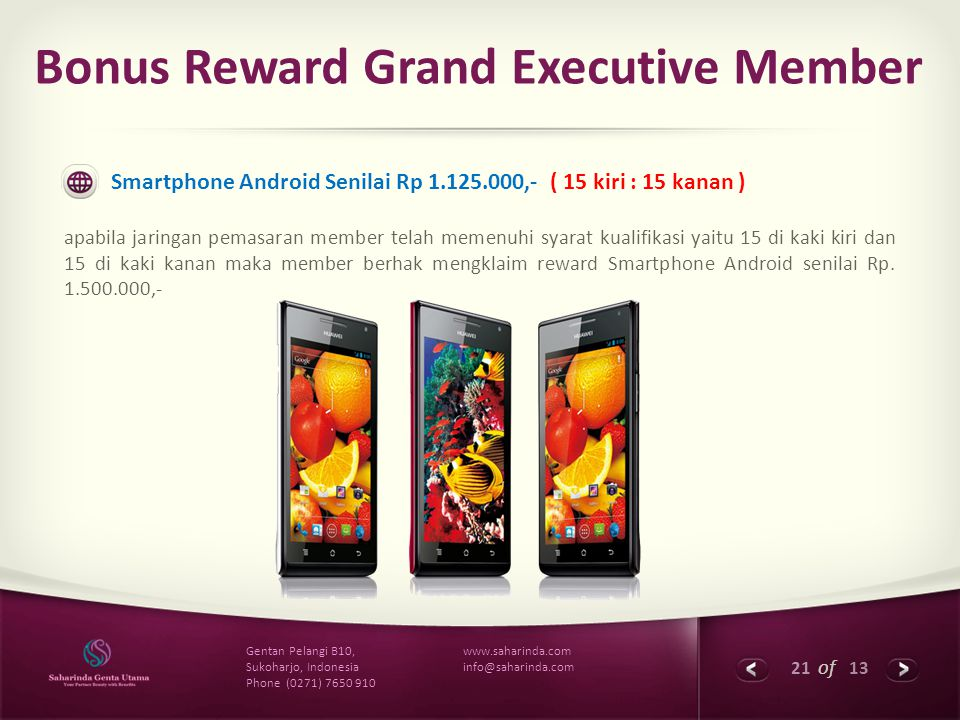Bonus Reward Grand Executive Member